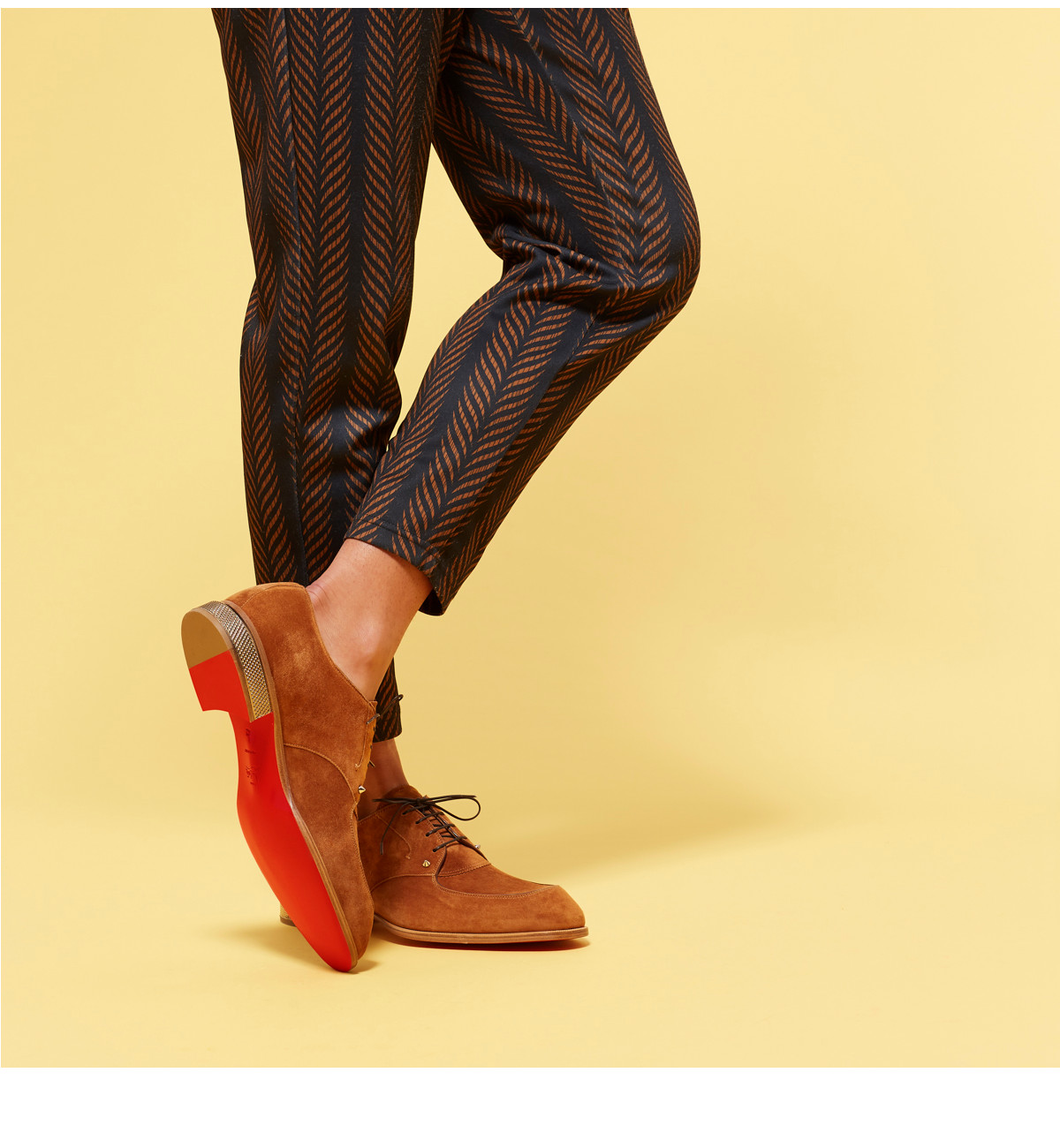 Christian Louboutin United States Online Boutique D Island Shoes Casual Zappato England Suede Dark Brown Men New Arrivals