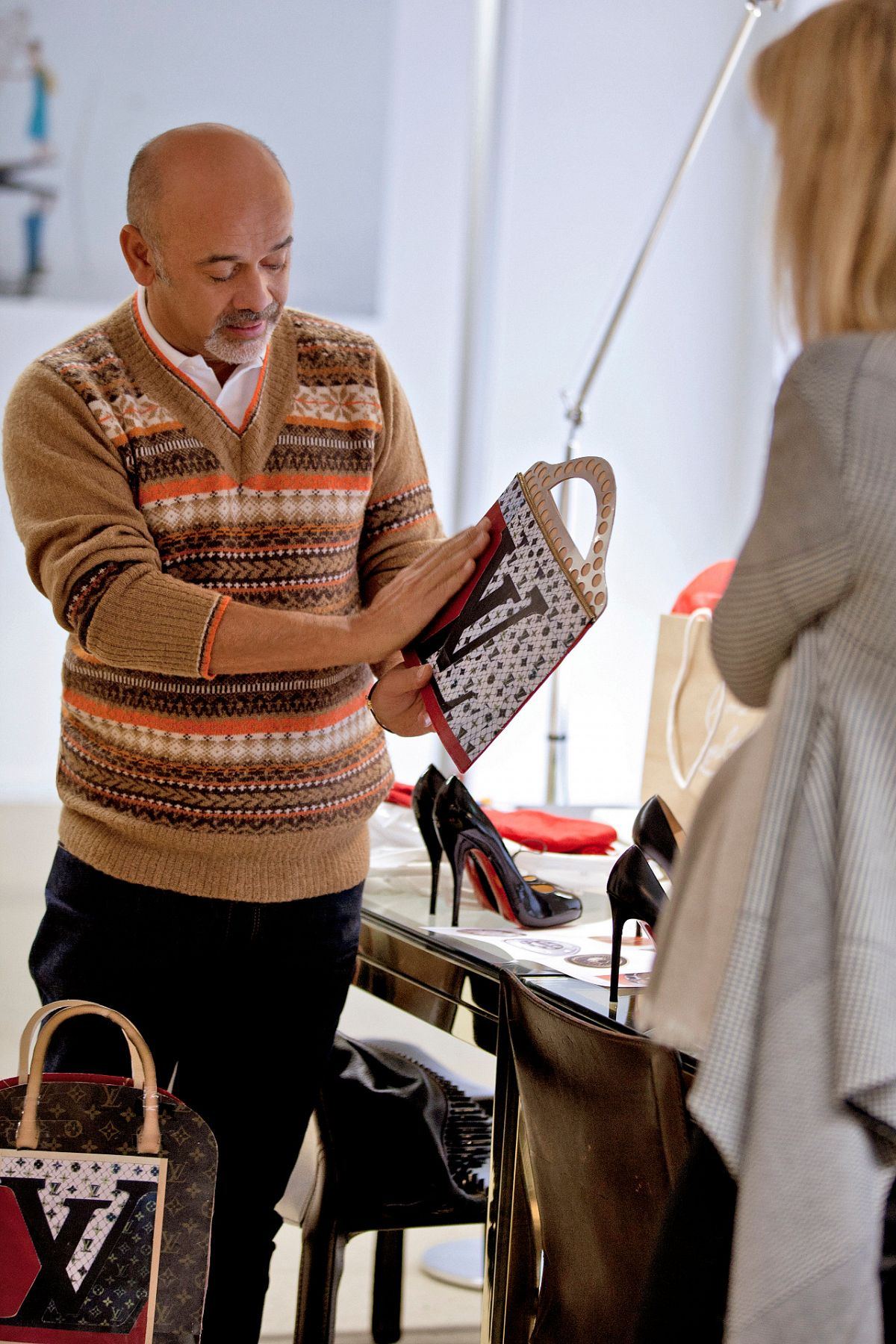 a0fe2763cdd News - Christian Louboutin Online - Celebrating Monogram with Louis Vuitton