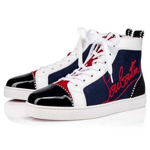 Shoes - Navy Louis Flat - Christian Louboutin
