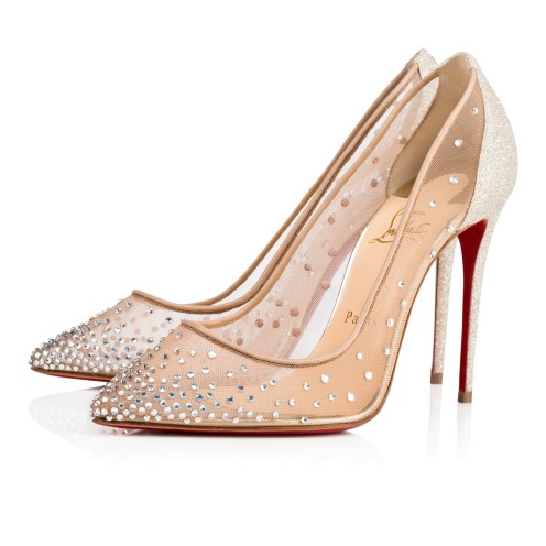 Souliers - Follies Strass 100 Rete/glitter Mini/spec Strass - Christian Louboutin