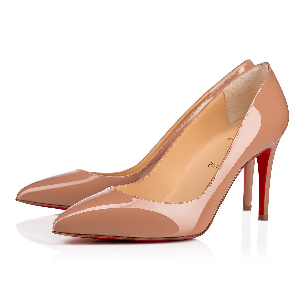 6be4e731642c Pigalle 85 Nude Patent Leather - Women Shoes - Christian Louboutin