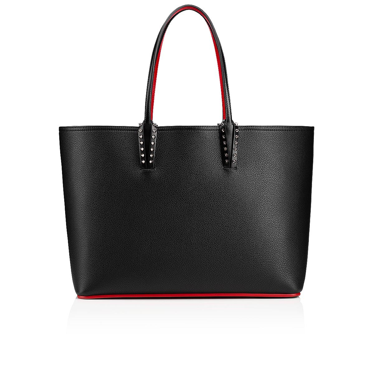 recognized brands running shoes best wholesaler CABATA TOTE BAG Black Calfskin - Handbags - Christian Louboutin