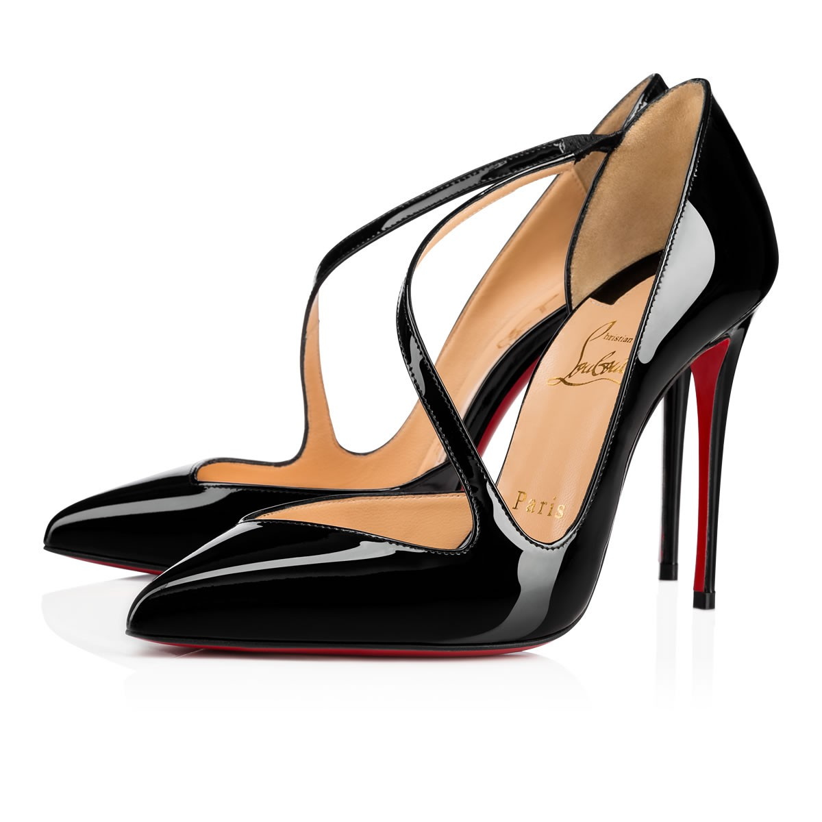 newest dc0c1 00709 Jumping 100 Black Patent Leather - Women Shoes - Christian Louboutin