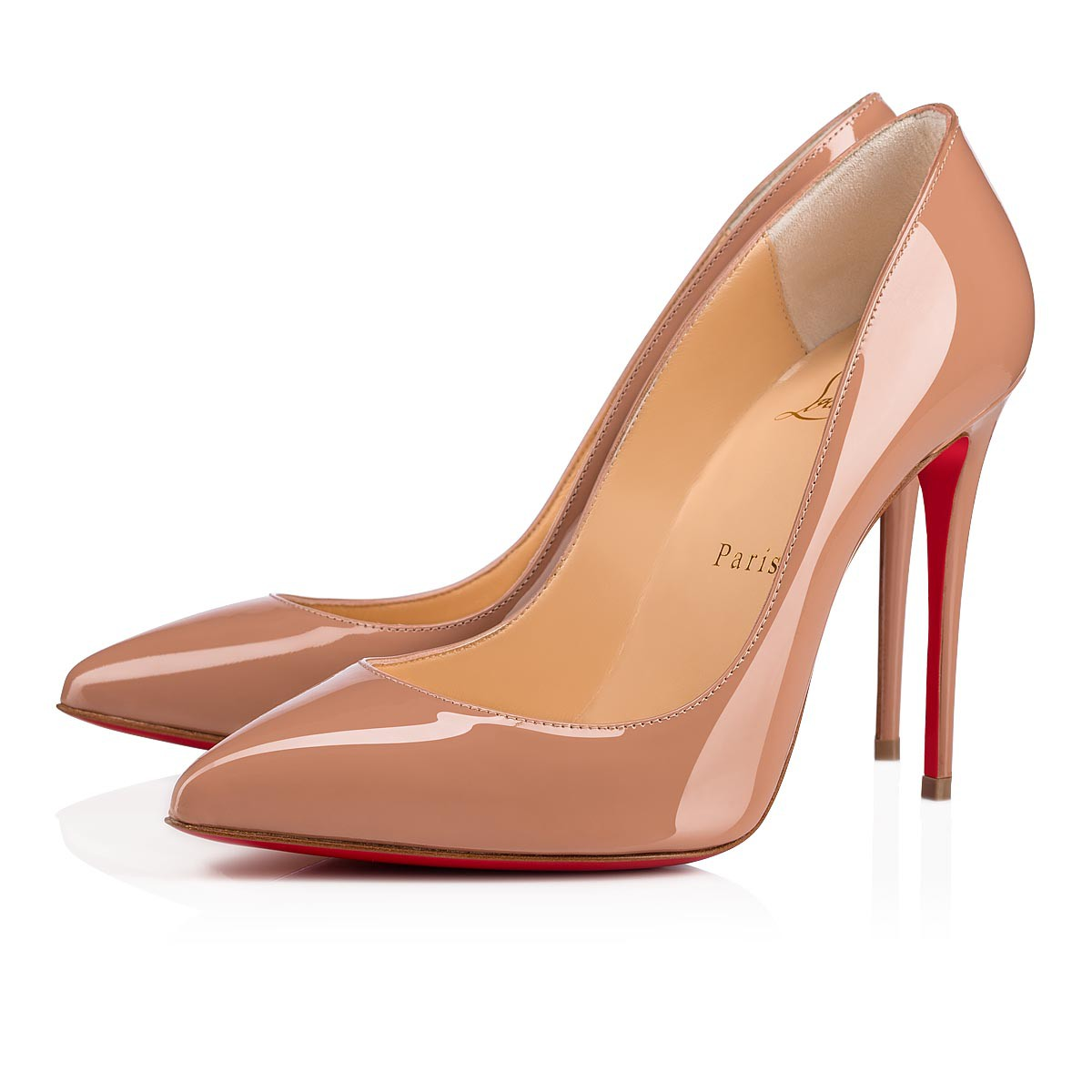 59efb3f7f765 Pigalle Follies 100 Nude Patent Leather - Women Shoes - Christian Louboutin