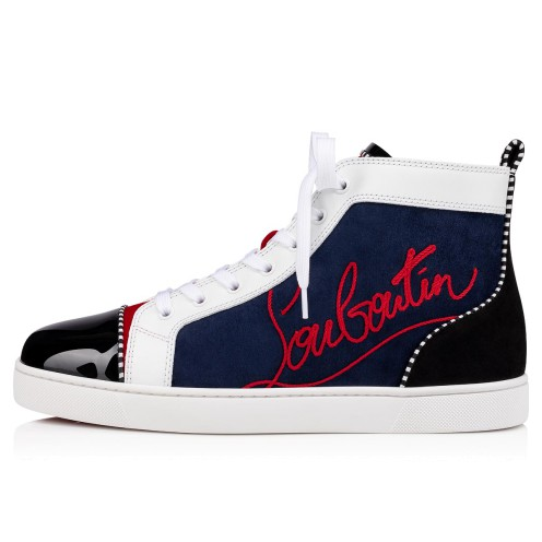 Shoes - Navy Louis Flat - Christian Louboutin_2
