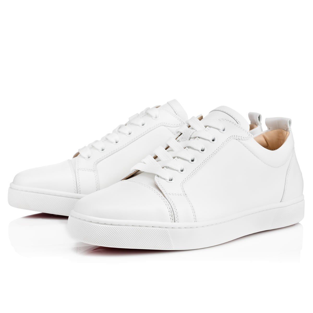 73bae55493e8 Louis Junior Men s Flat White Leather - Men Shoes - Christian Louboutin