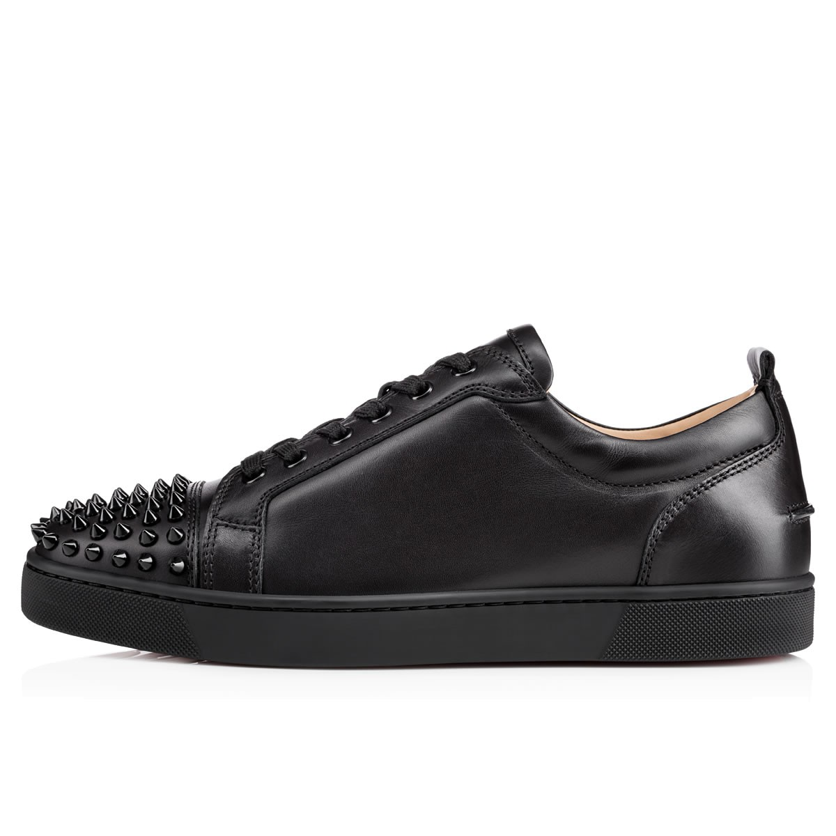 premium selection ade8d b2a84 Louis Junior Spikes Black/Black Leather - Men Shoes - Christian Louboutin
