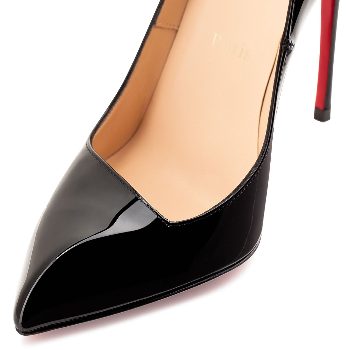 louboutin black and beige