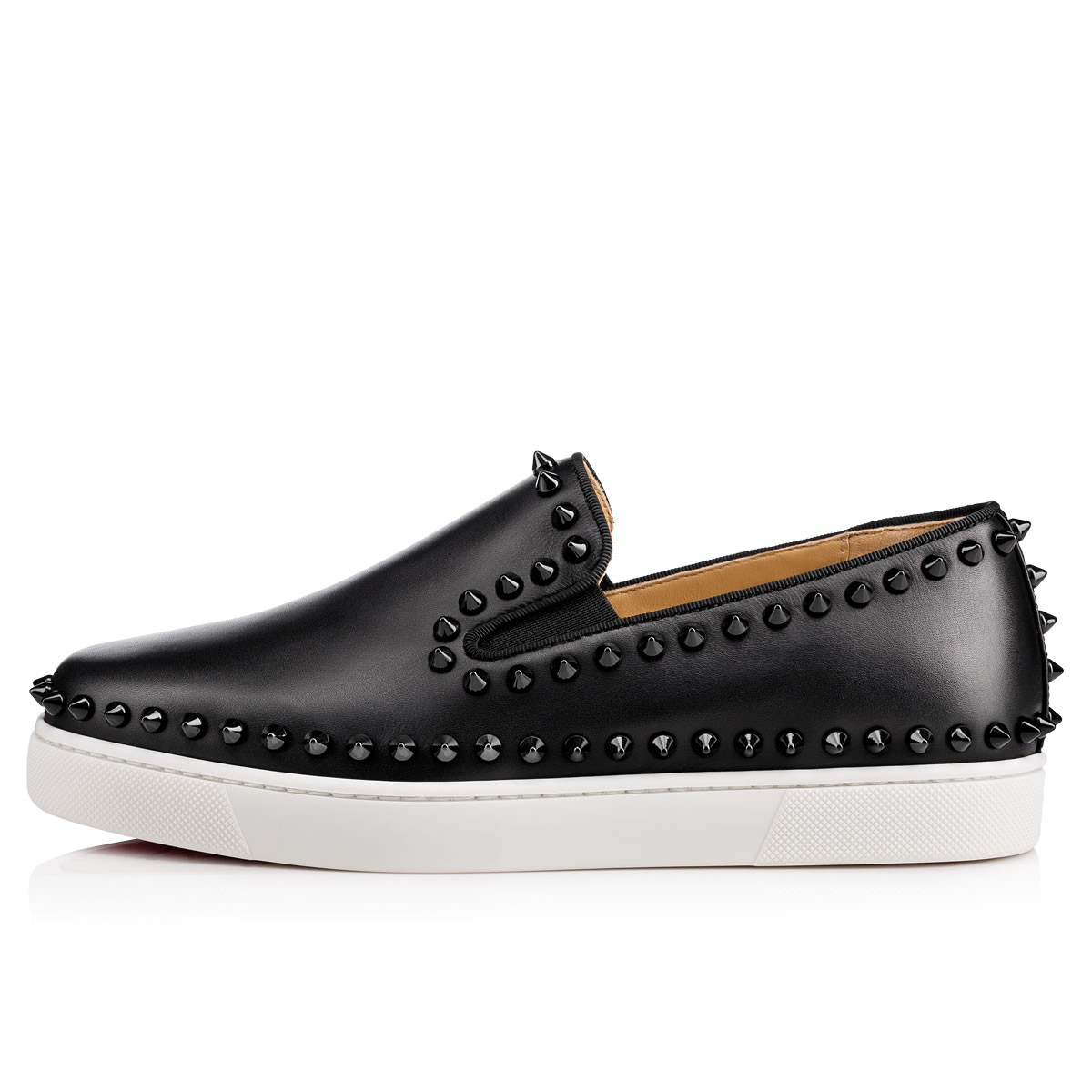 f244b692d8d2 Pik Boat Women s Flat Black Leather - Women Shoes - Christian Louboutin