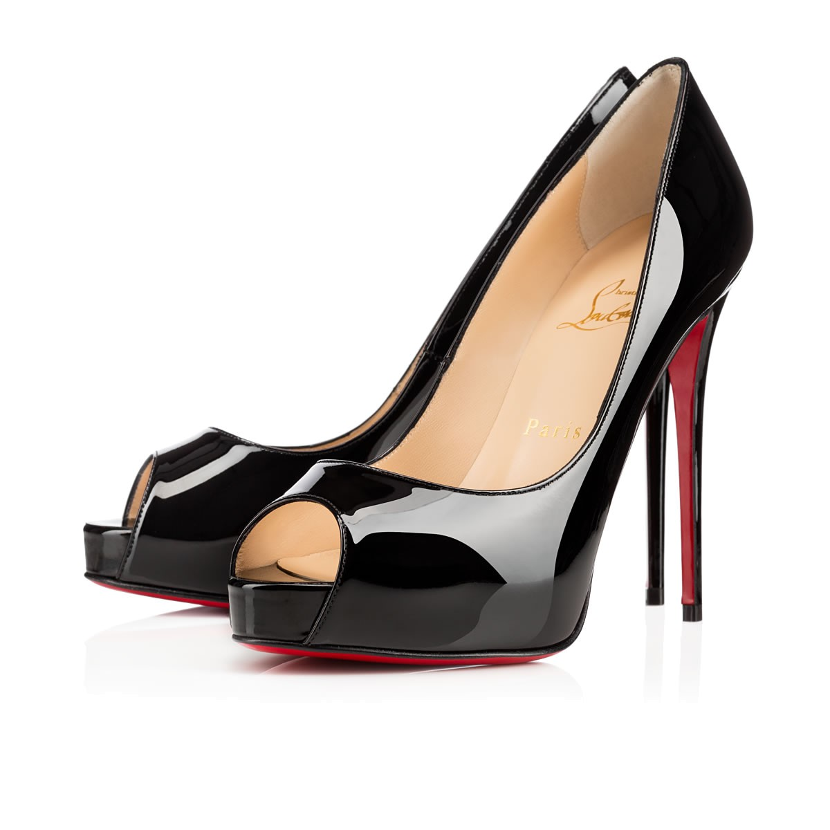 a5e3846b4fd New Very Prive 120 Black Patent Leather - Women Shoes - Christian Louboutin