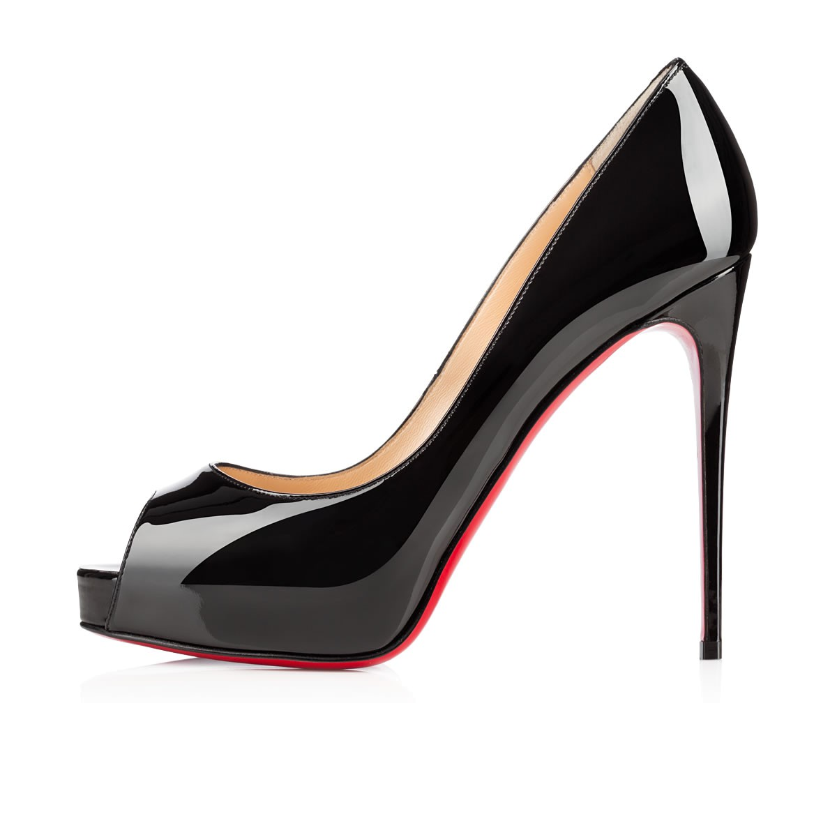 09a8dc85590 New Very Prive 120 Black Patent Leather - Women Shoes - Christian Louboutin