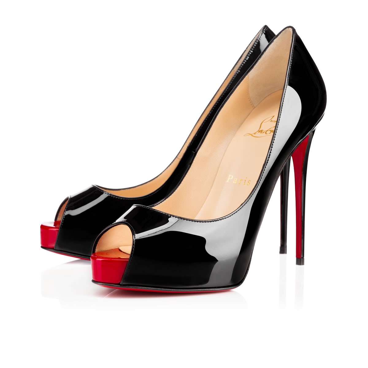 e219f19c4eb New Very Prive 120mm Black/Red Patent Leather