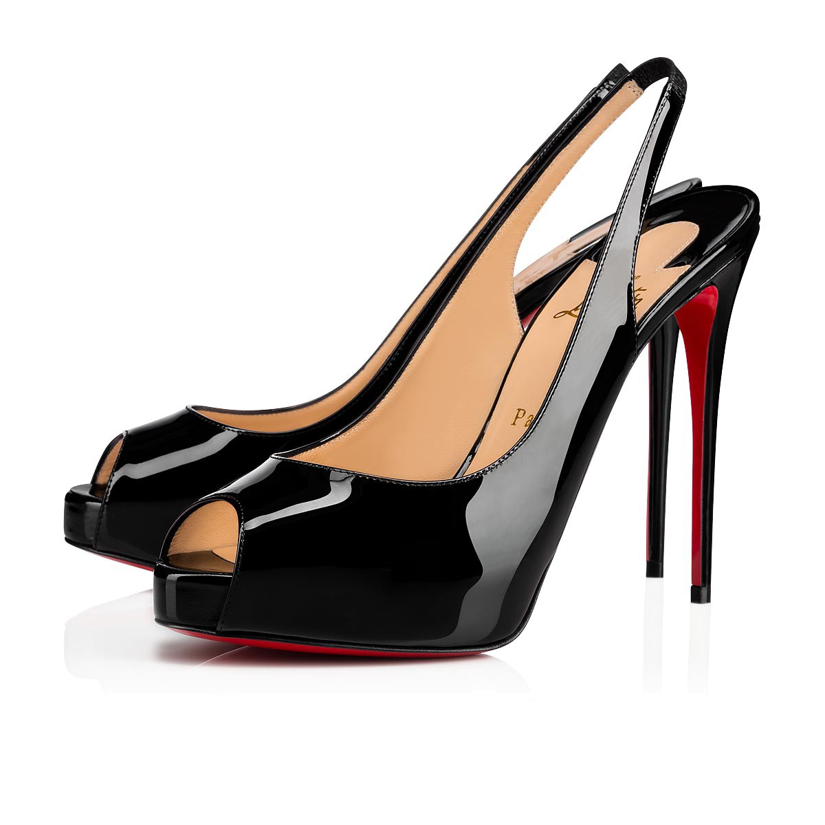 2a9158faa87 Private Number 120 Black Patent Leather - Women Shoes - Christian Louboutin