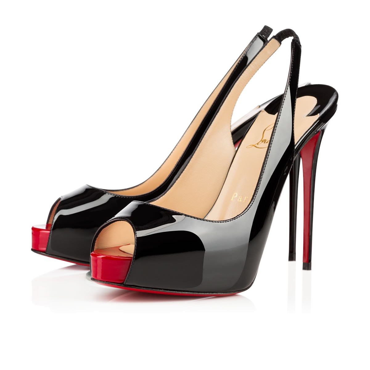 christian louboutin shoes black and red