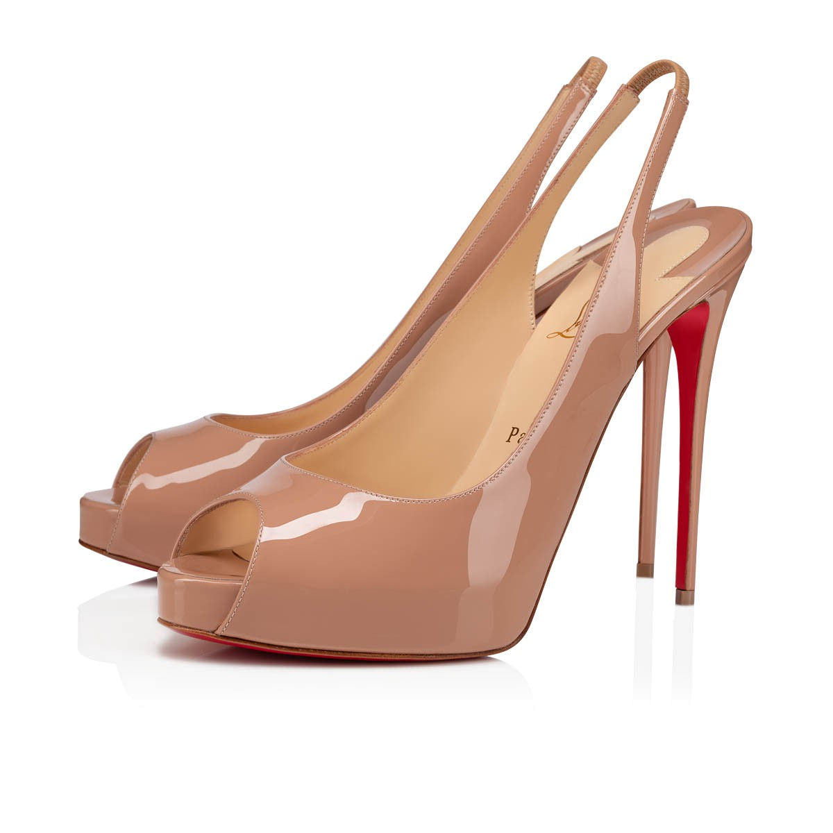 ea6f2819b2b Private Number 120 Nude Patent Leather - Women Shoes - Christian Louboutin