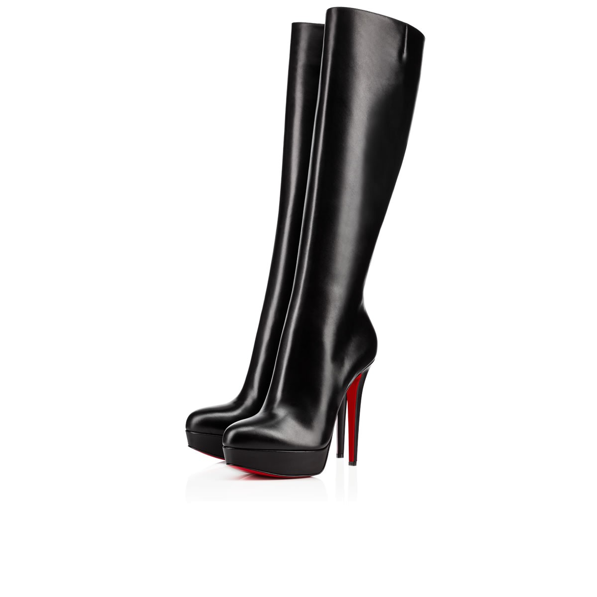Bianca Botta 140 Black Leather Women Shoes Christian Louboutin