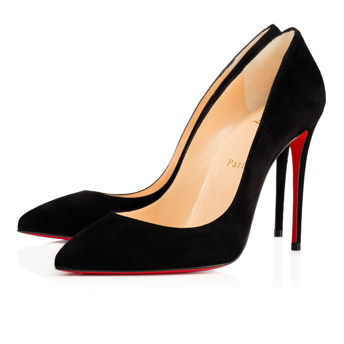 best sneakers 0a161 d4553 Pigalle Follies 100 Black Suede - Women Shoes - Christian Louboutin
