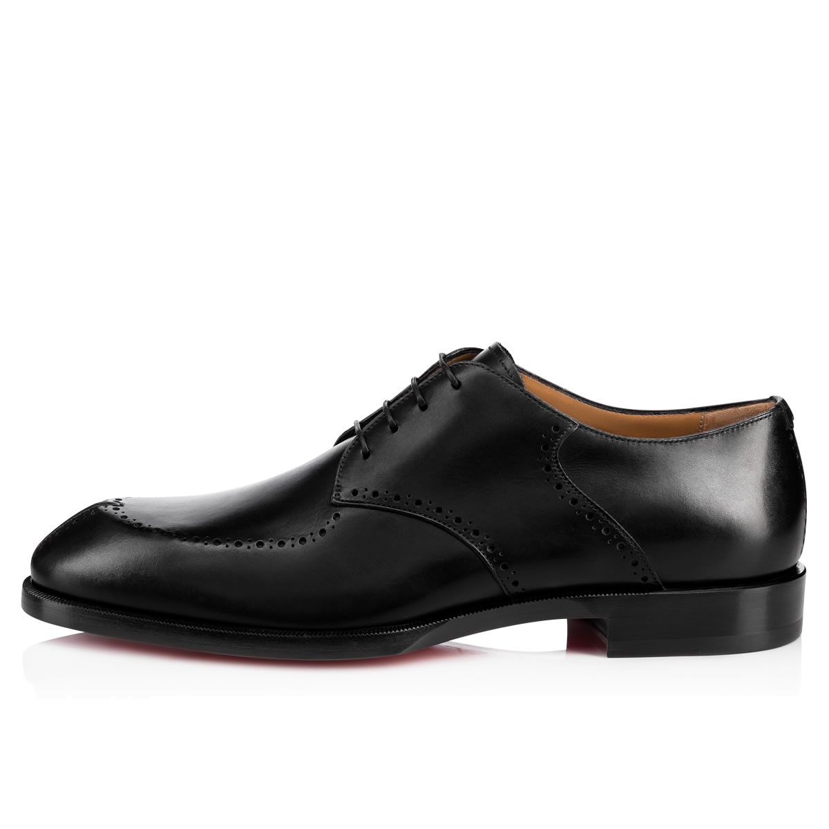00cfdecd670 A Mon Homme Flat Black Leather - Men Shoes - Christian Louboutin