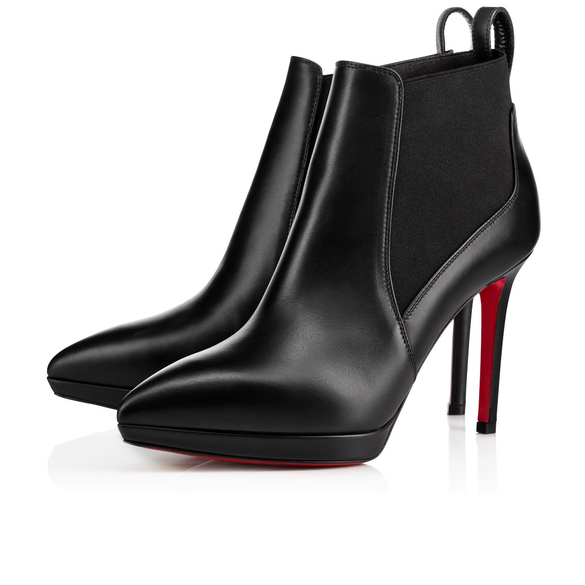 classic style various styles stable quality Crochinetta 100 Black Leather - Women Shoes - Christian Louboutin