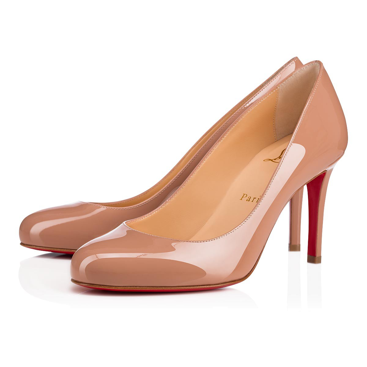 the best attitude 68ee5 914f2 Fifille 85 Nude Patent Leather - Women Shoes - Christian Louboutin
