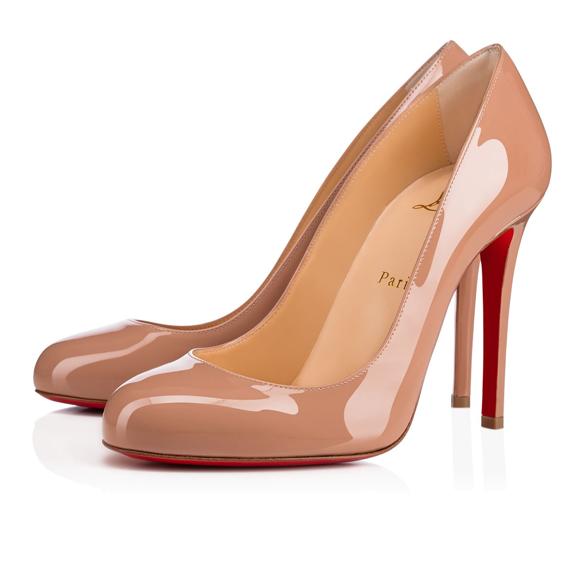 best loved b70a1 2cc99 Fifille 100 Nude Patent Leather - Women Shoes - Christian Louboutin