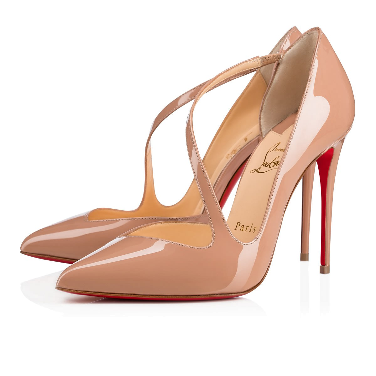Crossfliketa 100 beige patent leather pumps Christian Louboutin vvWkz