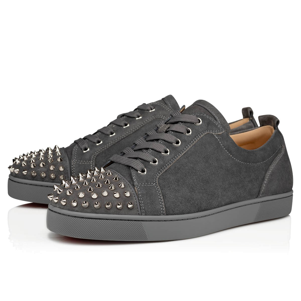 detailed look e4617 0de29 Louis Junior Spikes Shadow/Sv Suede - Men Shoes - Christian Louboutin