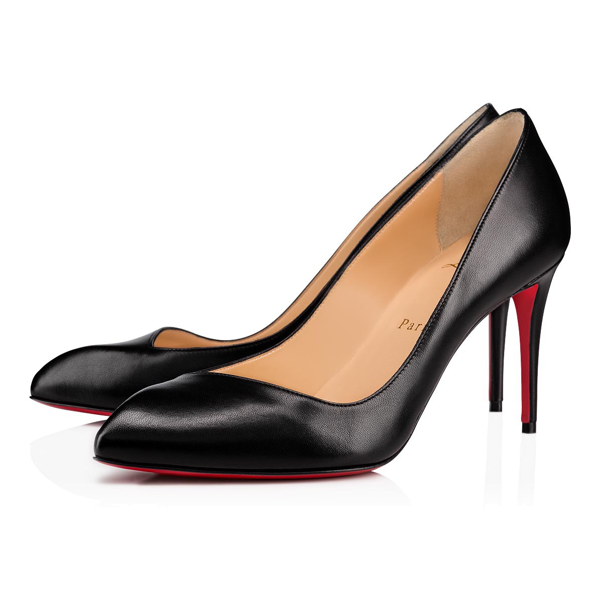 3c373bca234 Corneille 85 Black Leather - Women Shoes - Christian Louboutin