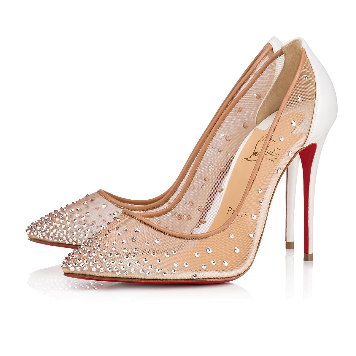 hot sale online fecda 7bb59 Follies Strass 100 Version Snow Strass - Women Shoes - Christian Louboutin