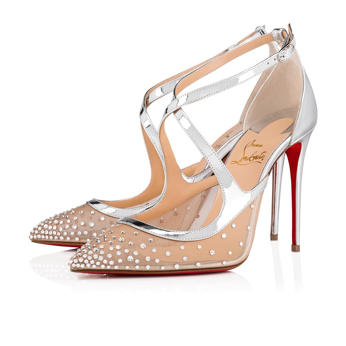 884938acf939 Twistissima Strass 100 Version Silver Dentelle - Women Shoes ...