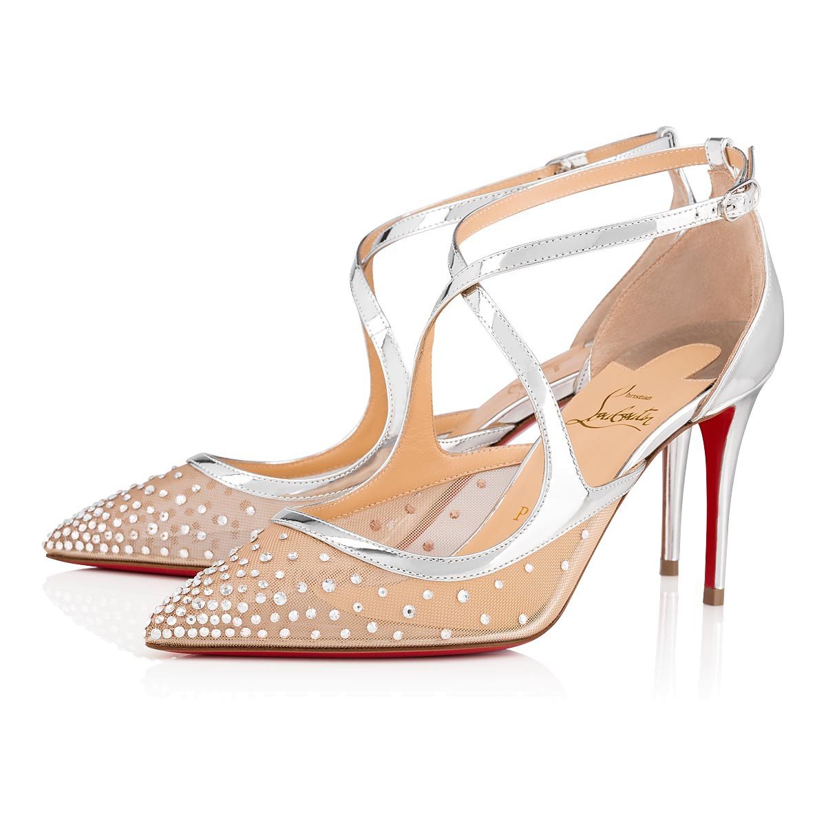 huge discount 733cb 586c4 Twistissima Strass 85 Version Silver Dentelle - Women Shoes - Christian  Louboutin