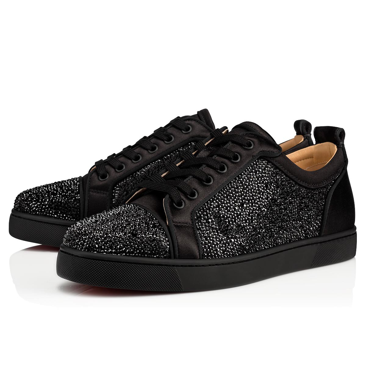 Louis Junior Strass Black Strass Men Shoes Christian Louboutin