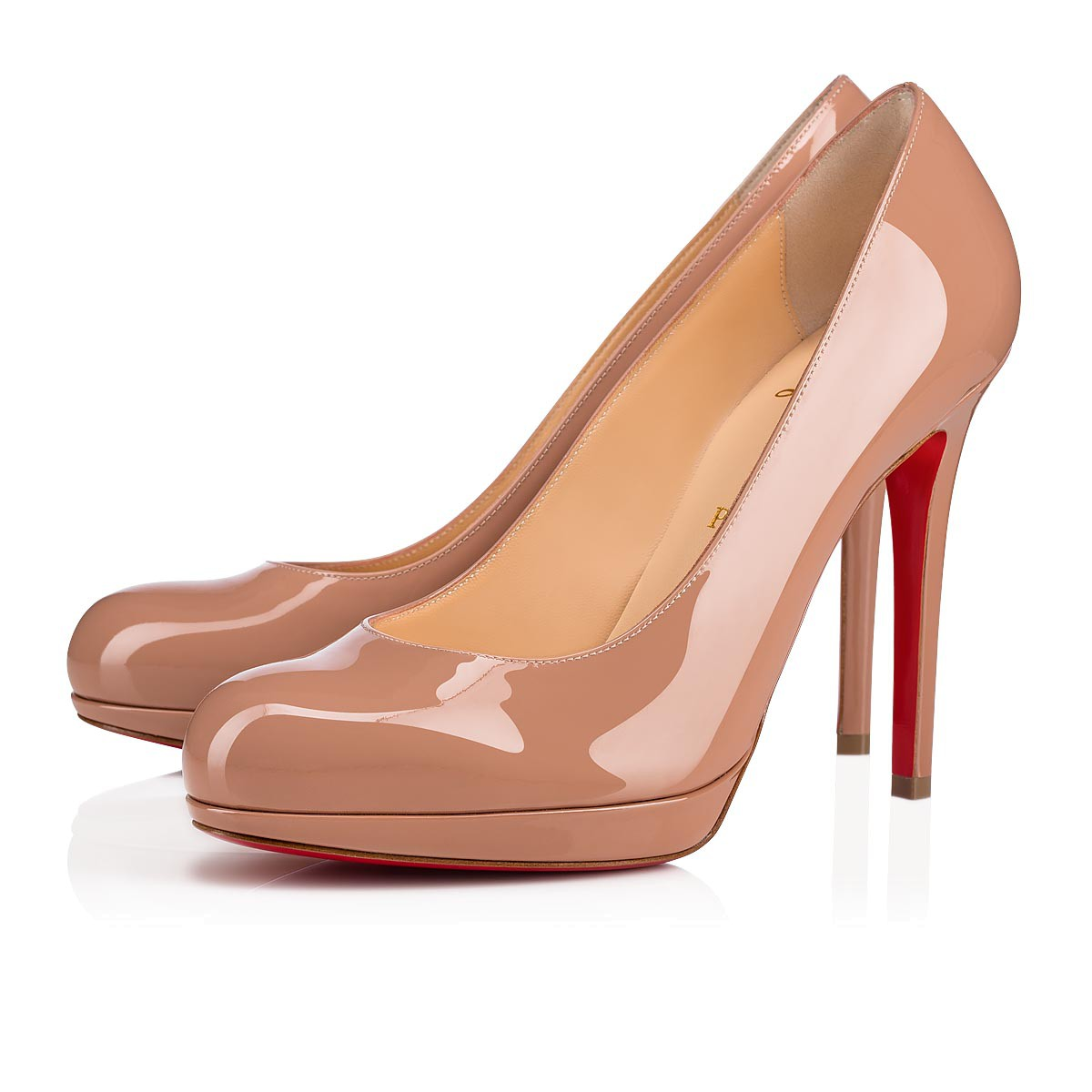 meet 611ee b45a1 New Simple Pump 120 Nude Patent Leather - Women Shoes - Christian Louboutin