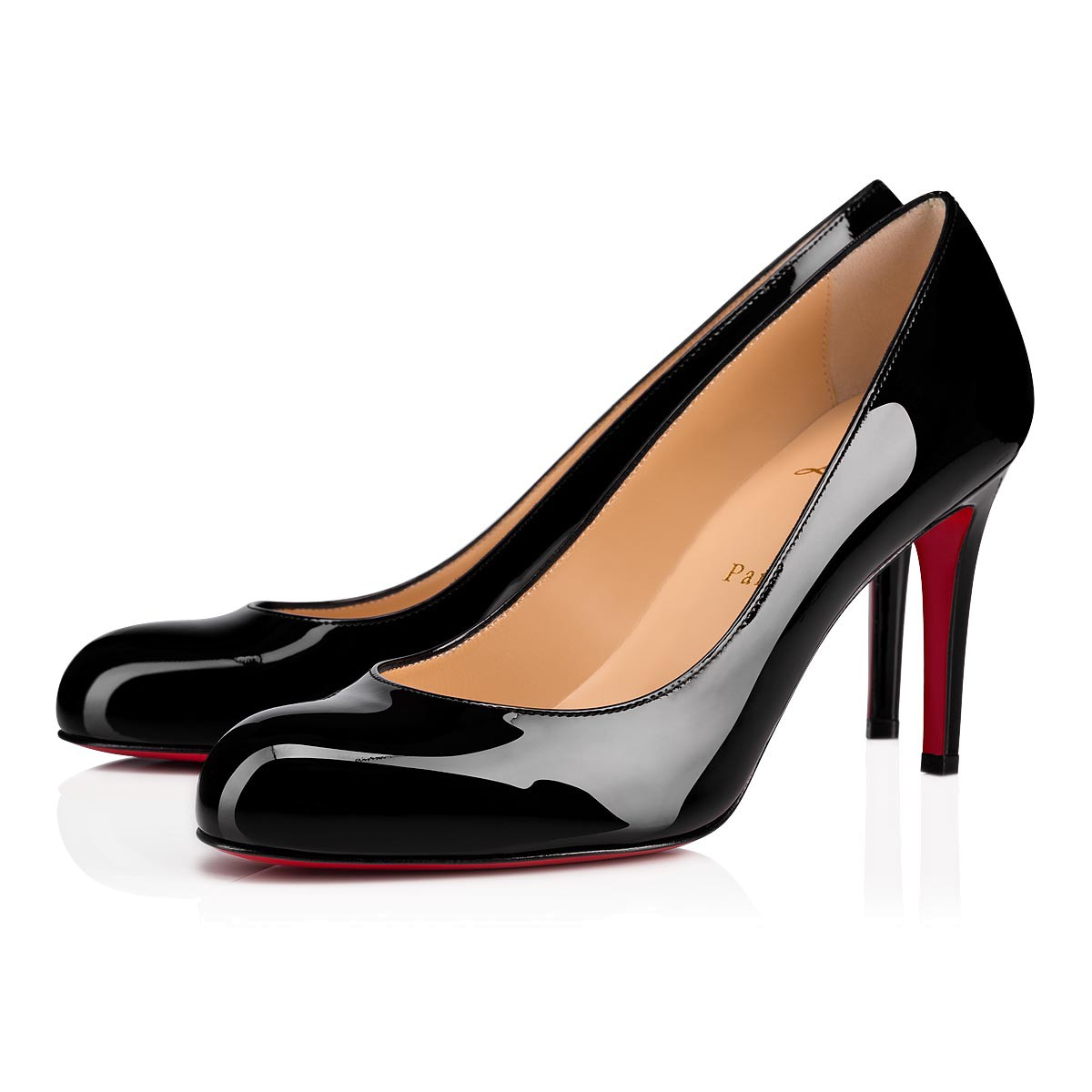 ddaf29a740e Simple Pump 85 Black Patent Leather - Women Shoes - Christian ...