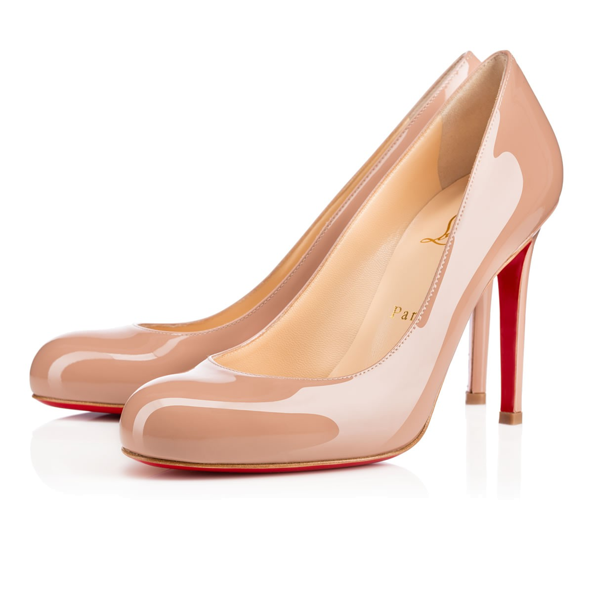 Simple Pump 100 Nude 6248 Patent Leather - Women Shoes - Christian ...