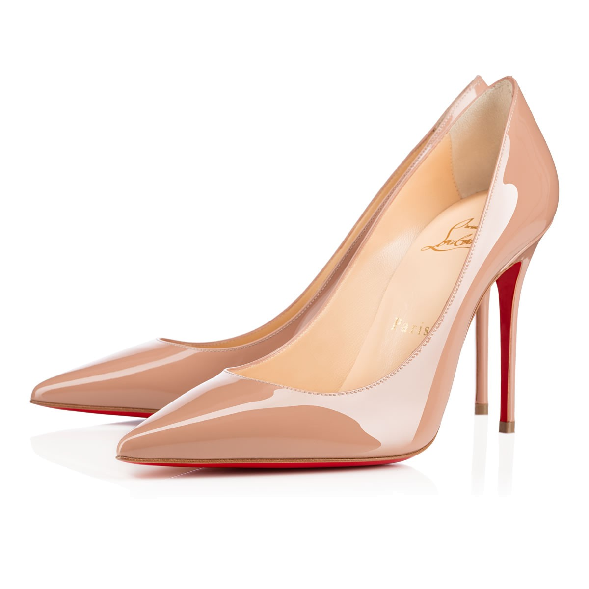 97d141196fbb Kate 100 Nude Patent Leather - Women Shoes - Christian Louboutin