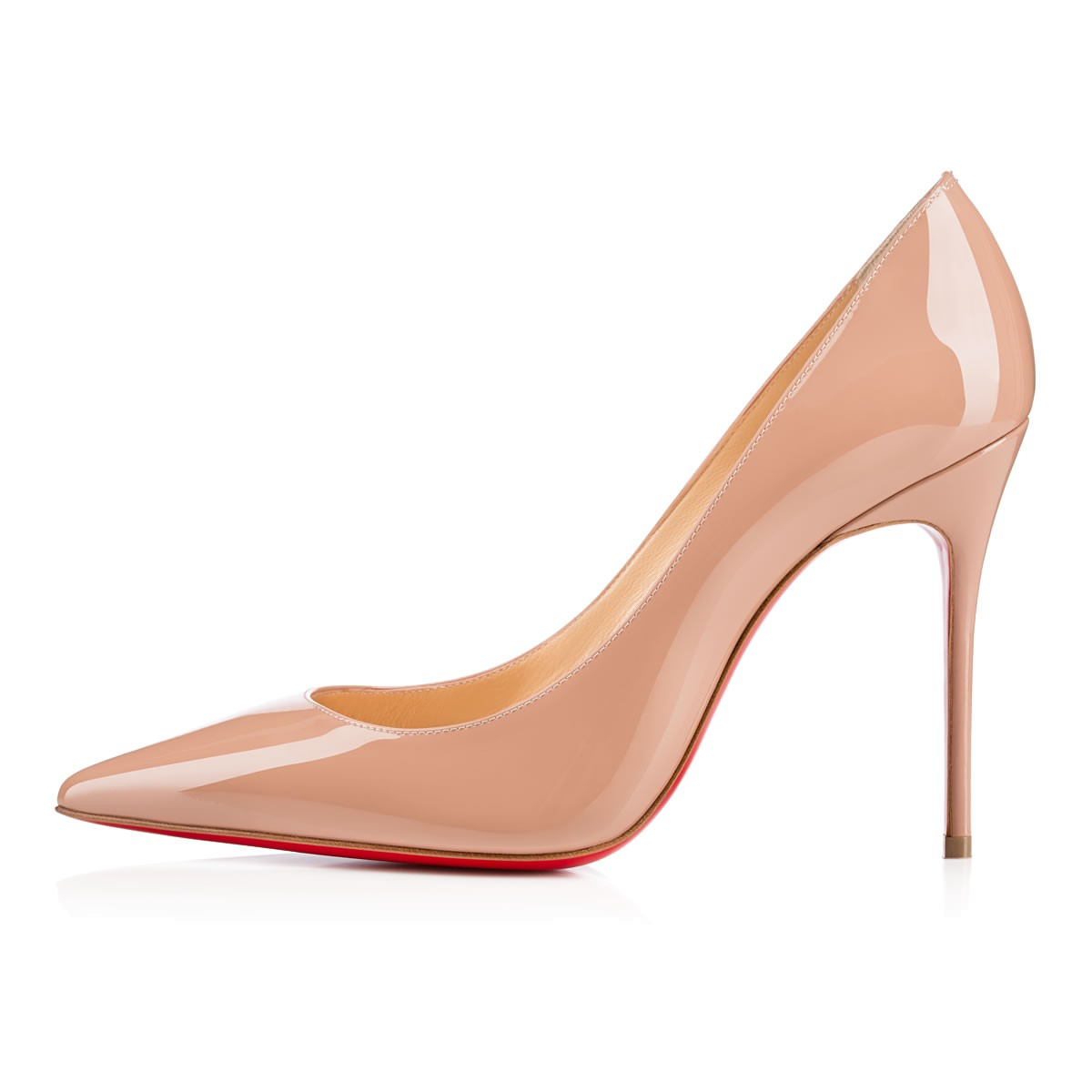 sports shoes cd6cd cf6df Kate 100 Nude Patent Leather - Women Shoes - Christian Louboutin