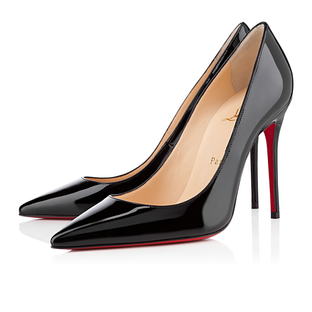 84a67d4d9f4 Kate 100 Black Patent Leather - Women Shoes - Christian Louboutin