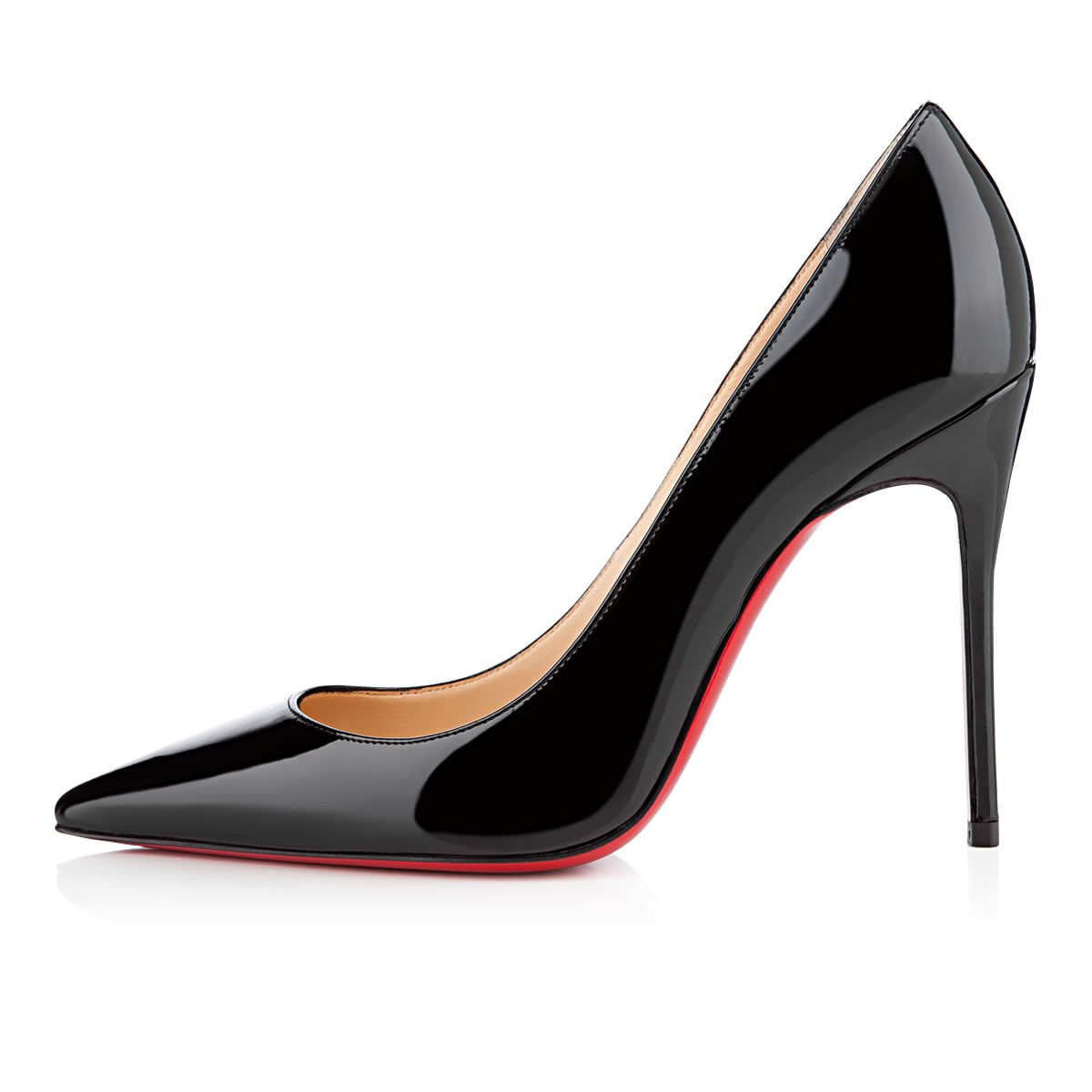 christian louboutin decollete 554 100 patent leather pumps