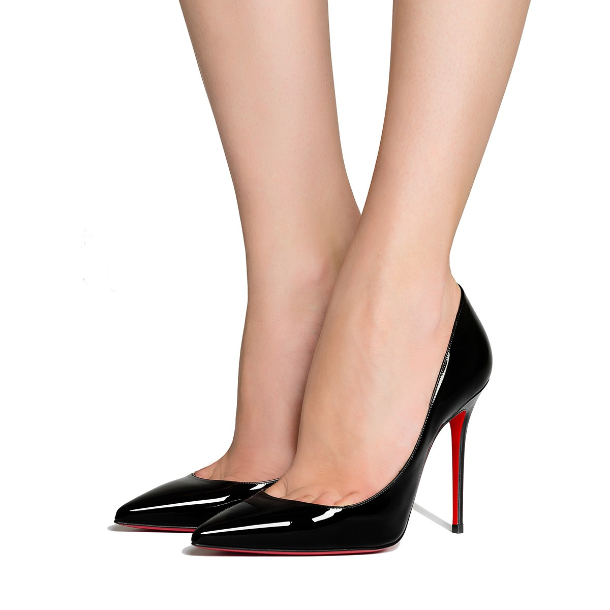 a0e99052fba Kate 100 Black Patent Leather - Women Shoes - Christian Louboutin