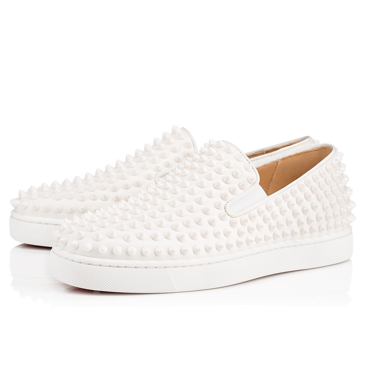 f17af92fd0a Roller-Boat White/White Leather - Men Shoes - Christian Louboutin