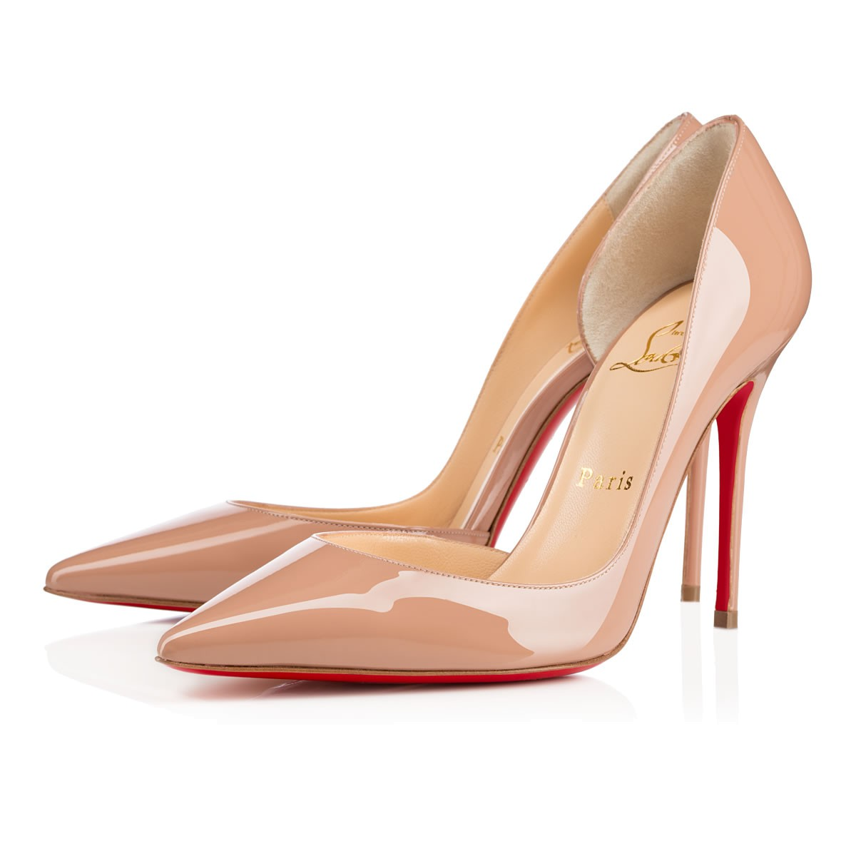 Iriza 100 Nude Patent Leather - Women Shoes - Christian Louboutin da7d1a2e468f