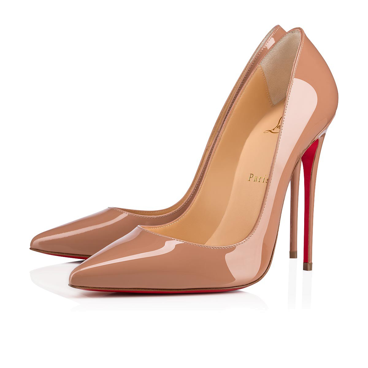 Patent Christian Nude 120 Leather Shoes Women So Kate Louboutin 6TwqHH