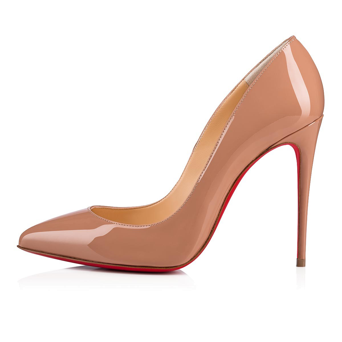 newest collection 565da 709bc Pigalle Follies 100 Nude Patent Leather - Women Shoes - Christian Louboutin