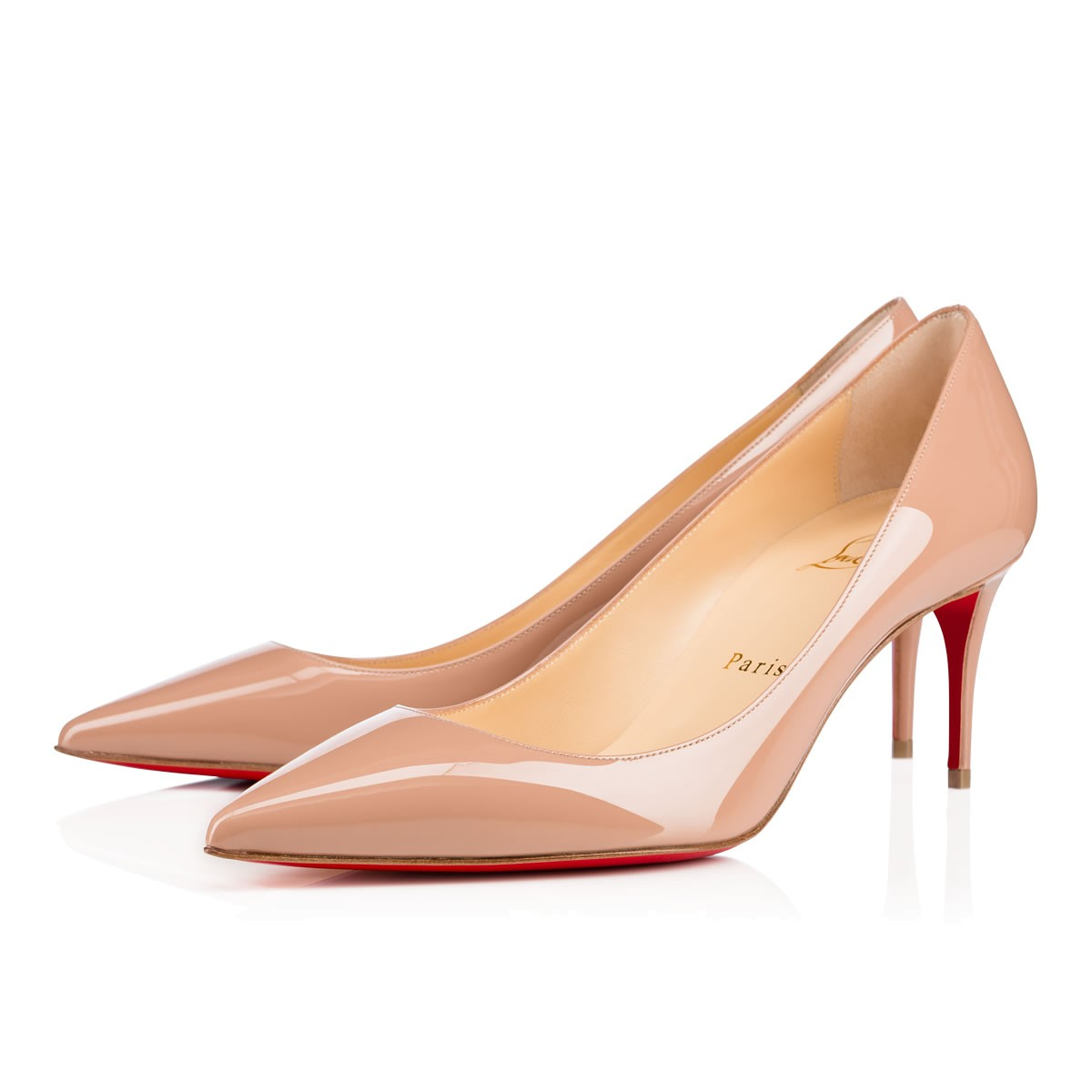6dc215eb20de Decollete 554 70 Nude Patent Leather - Women Shoes - Christian ...