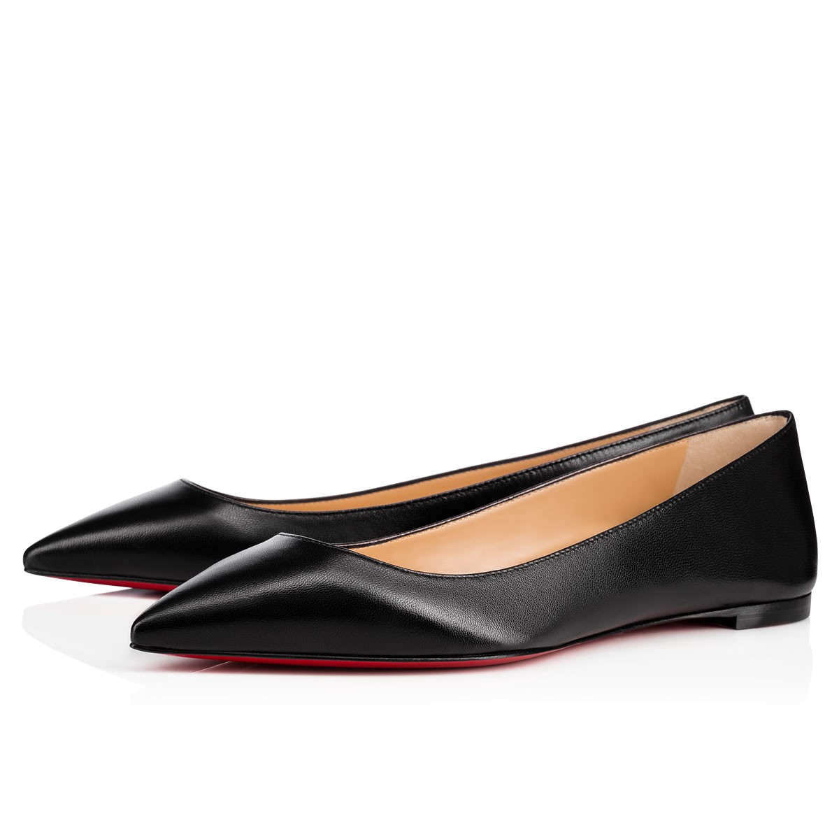 4bec73763ca1 Ballalla Flat Black Leather - Women Shoes - Christian Louboutin