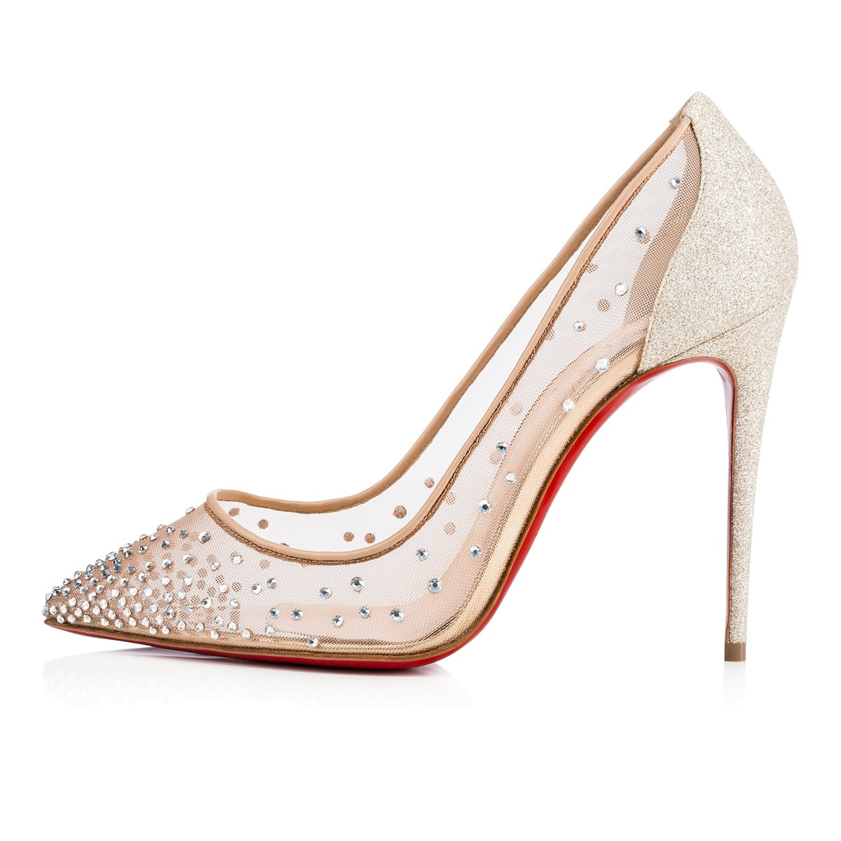 cheap for discount eb450 3050c Follies Strass 100 Vers Crystal Moonlight Strass - Women Shoes - Christian  Louboutin