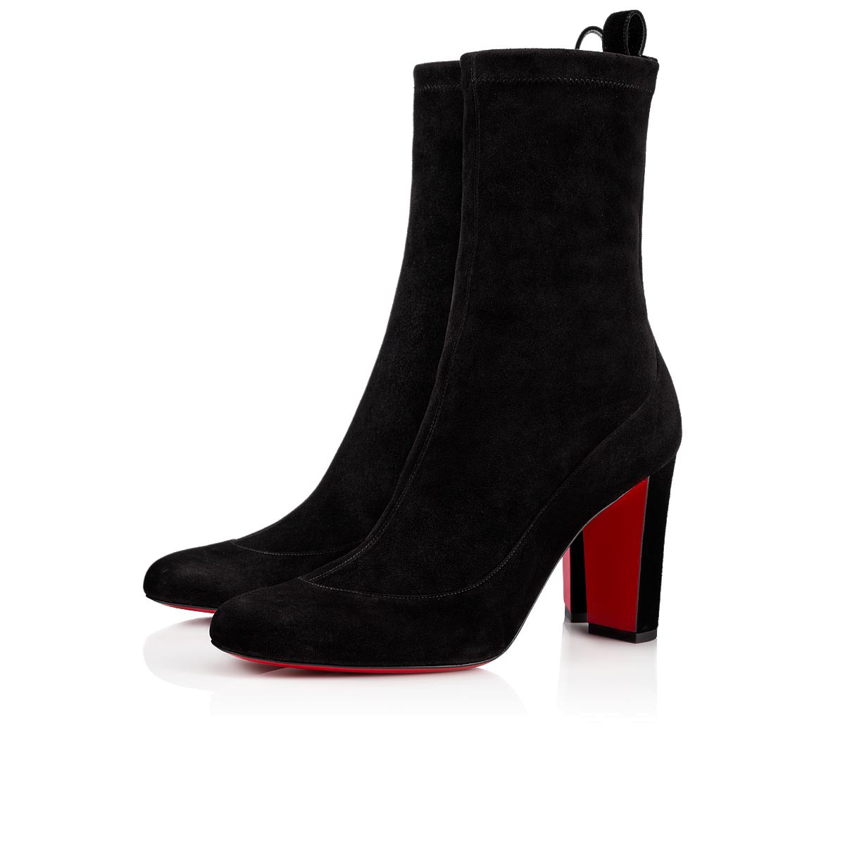 ef93ac9d0f7 Gena Bootie 85 Black Suede - Women Shoes - Christian Louboutin