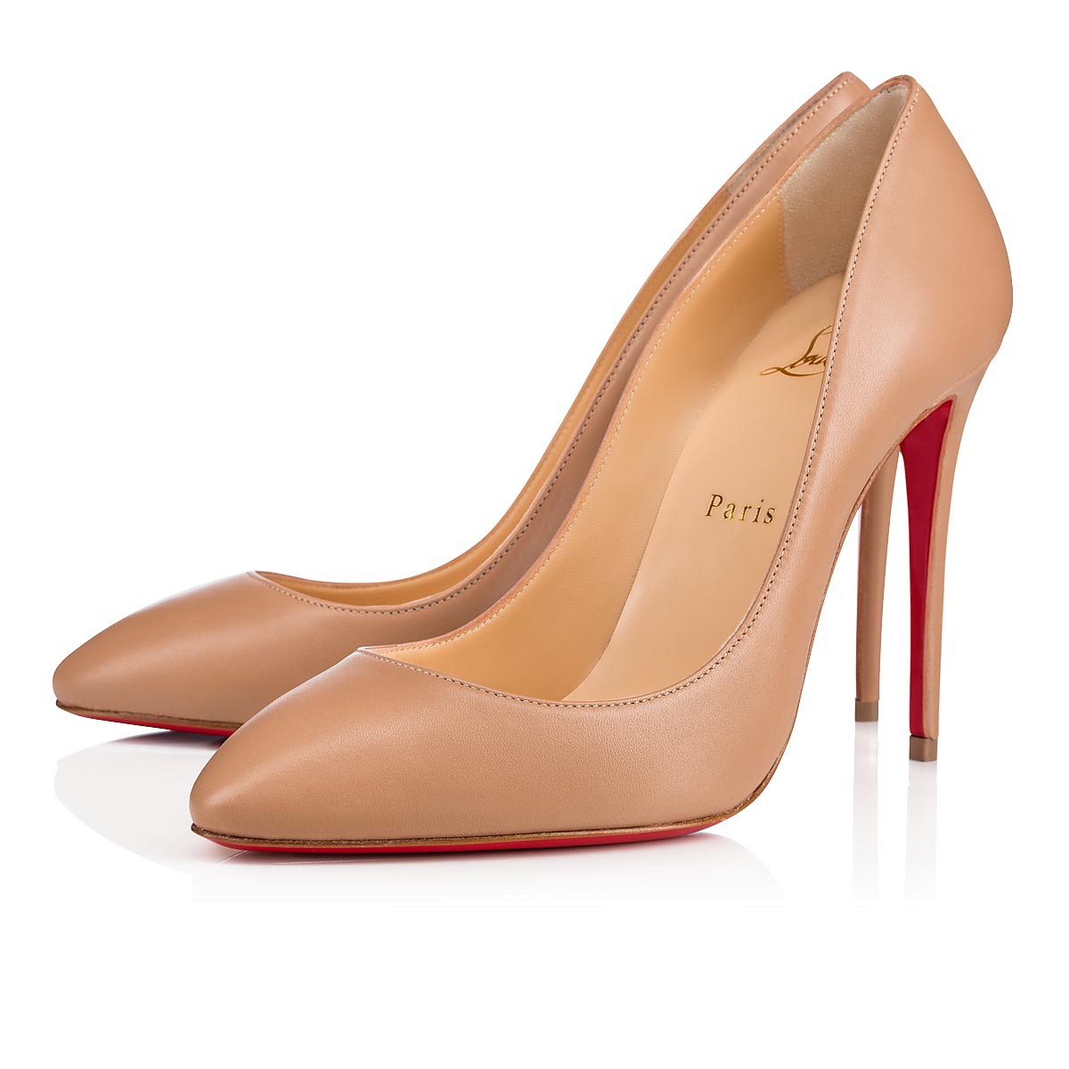 reputable site 863dd 122df Eloise 100 Nude Leather - Women Shoes - Christian Louboutin