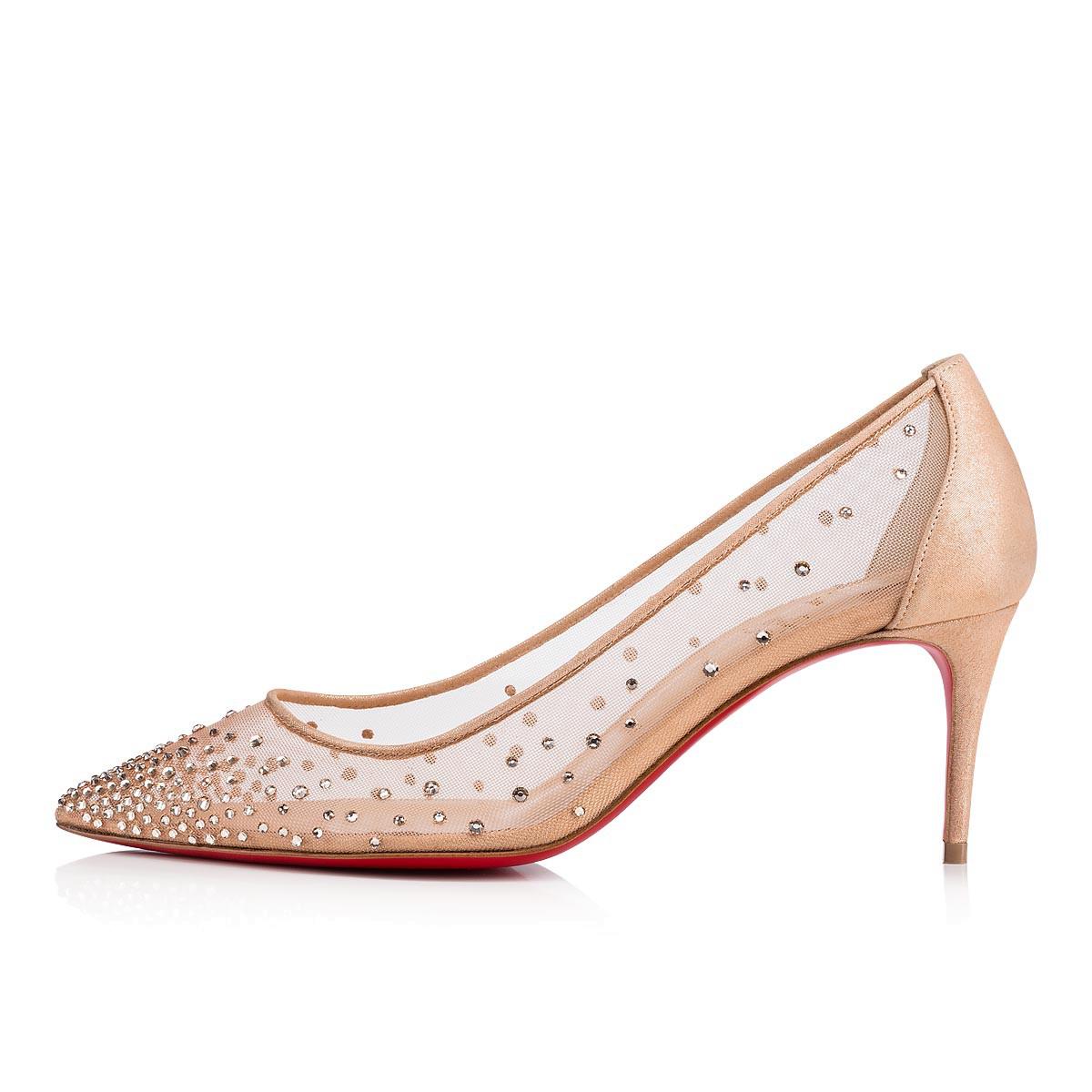 5b23390b10e Follies Strass 70 Version Light Silk Strass - Women Shoes - Christian  Louboutin